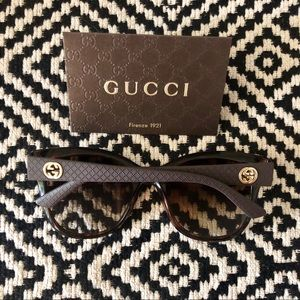 Authentic Gucci Cat Eye Sunglasses Tortoiseshell
